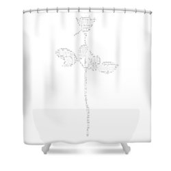 Enjoy The Silence White Words Shower Curtain