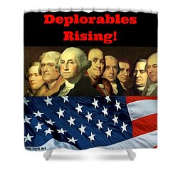 Shower Curtain featuring the digital art Deplorables Rising by Rand Swift