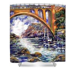 Depoe Bay Bridge Shower Curtain
