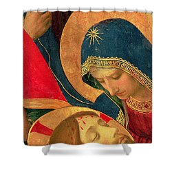 Deposition From The Cross Shower Curtain by Fra Angelico