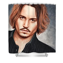 Depp Shower Curtain by Bruce Lennon