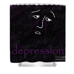Depression Shower Curtain by Methune Hively