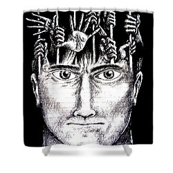 Deprivation Of Freedom Of Expression Shower Curtain