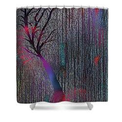 Shower Curtain featuring the digital art Depth Of Dreams by Yul Olaivar