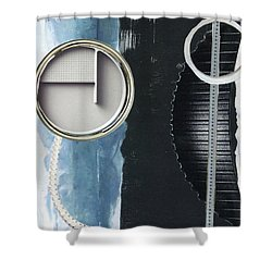 Shower Curtain featuring the painting Depth Onto Space by Michal Mitak Mahgerefteh