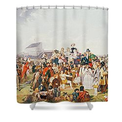 Derby Day Shower Curtain by William Powell Frith