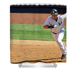 Derek Jeter Shower Curtain by Mitch Cat