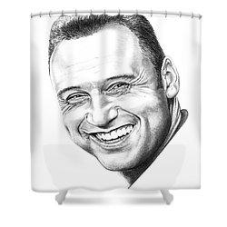 Derek Jeter Shower Curtain by Murphy Elliott