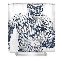 Derek Jeter New York Yankees Pixel Art 12 Shower Curtain