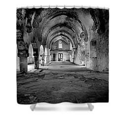 Derelict Cypriot Church. Shower Curtain