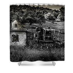 Derelict Farm, Transylvania Shower Curtain
