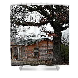 Shower Curtain featuring the photograph Derelict In Hope by PJ Boylan