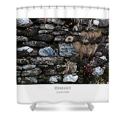 Shower Curtain featuring the digital art Derelict by Julian Perry