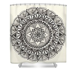 Des Tapestry Medallion Shower Curtain by Kathy Sheeran