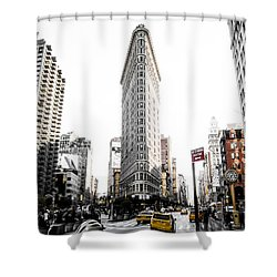 Shower Curtain featuring the photograph Desaturated New York by Nicklas Gustafsson