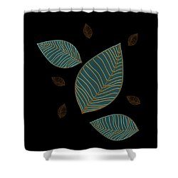 Descending Leaves Shower Curtain by Kandy Hurley