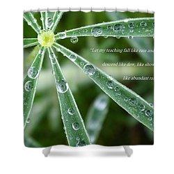 Descending Words Like Dew Shower Curtain