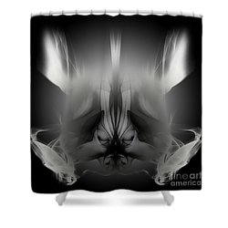 Descent Shower Curtain by Clayton Bruster