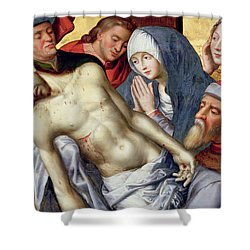 Descent From The Cross Shower Curtain by Hugo van der Goes