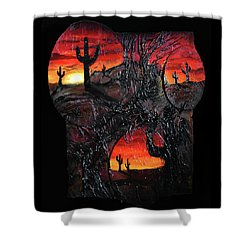 Desert Shower Curtain by Angela Stout