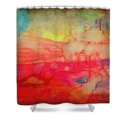 Desert Burn Shower Curtain