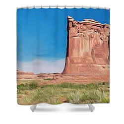 desert Butte Shower Curtain by Walter Colvin