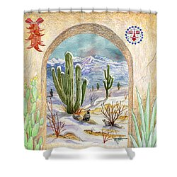 Desert Christmas Shower Curtain
