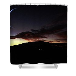 Desert Crescent Shower Curtain