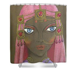Desert Diva -- Whimsical Arabic Woman Shower Curtain
