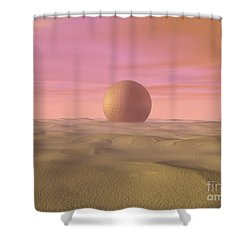 Desert Dream Of Geometric Proportions Shower Curtain