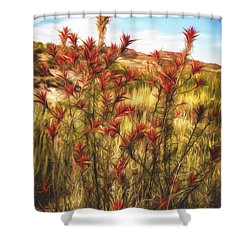 Shower Curtain featuring the photograph Desert Flora  ... by Chuck Caramella