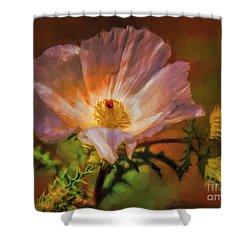 Desert Flower  ... Shower Curtain by Chuck Caramella