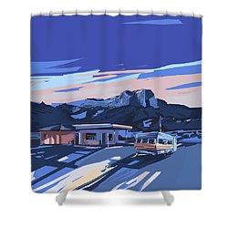 Desert Landscape 2 Shower Curtain by Bekim Art