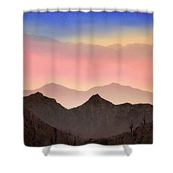 Desert Landscape Shower Curtain by Anthony Citro