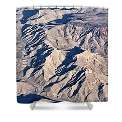 Shower Curtain featuring the photograph Desert Mountain Road by Linda Phelps