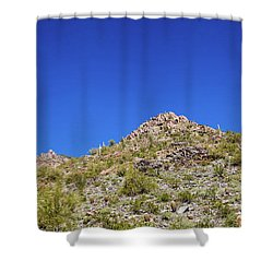 Shower Curtain featuring the photograph Desert Mountaintop by Ed Cilley