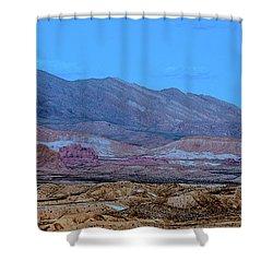 Desert Night Shower Curtain by Onyonet  Photo Studios