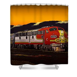 Desert Palms Shower Curtain by J Griff Griffin