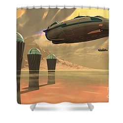 Desert Planet Shower Curtain by Corey Ford