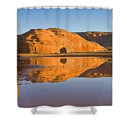 Desert Pools Shower Curtain by Mike  Dawson