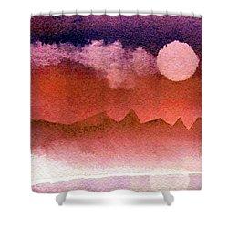 Desert Reflection Shower Curtain