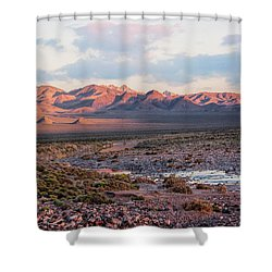 Desert River Sunset Shower Curtain