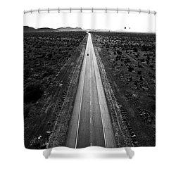 Desert Road Shower Curtain by Scott Pellegrin