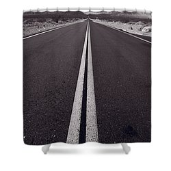 Desert Road Trip B W Shower Curtain by Steve Gadomski