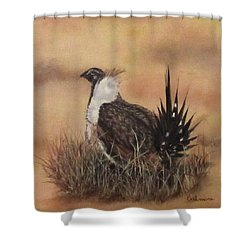 Desert Sage Grouse Shower Curtain
