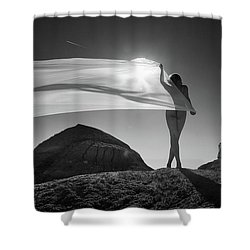 Desert Sail Shower Curtain