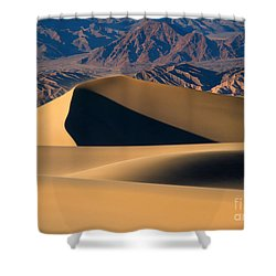 Desert Sand Shower Curtain by Mike Dawson