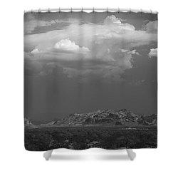 Desert Settlement Shower Curtain