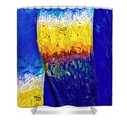 Shower Curtain featuring the photograph Desert Sky 1 by Paul Wear