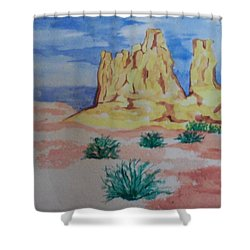 Shower Curtain featuring the painting Desert Sky by Erika Chamberlin
